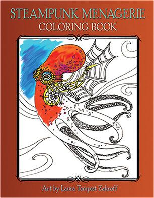 steampunk menagerie book 15 - Book Coloring