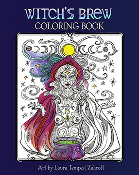Owlkeyme Arts | Coloring Books| Art by Laura Tempest Zakroff